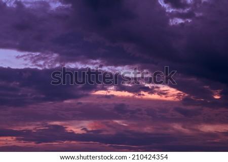 Beautiful storm sky with clouds, apocalypse like  - stock photo
