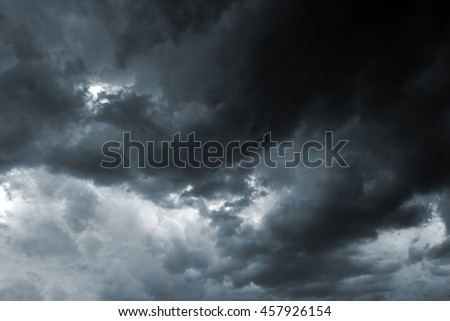 Beautiful storm sky with clouds, apocalypse, thunder, tornado - stock photo