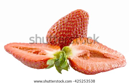 Beautiful strawberries isolated on white back ground