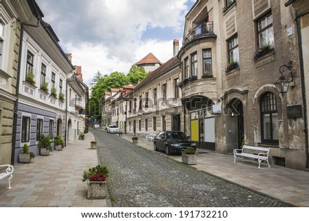 beautiful street in Kamnik, Slovenia