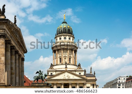 Beautiful street view of Traditional old buildings in Berlin