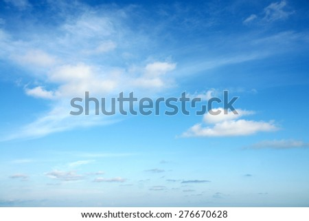 Beautiful Summer Clouds in the blue sky at Eastern Thailand. - stock photo