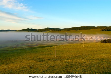Beautiful summer landscape. - stock photo