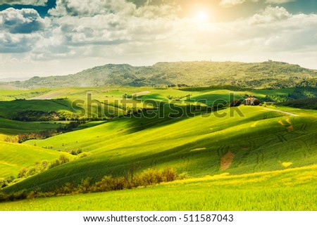 Beautiful summer landscape, Italy
