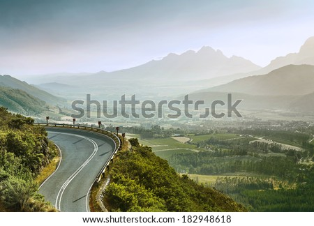 Beautiful Summer Mountain Road - stock photo