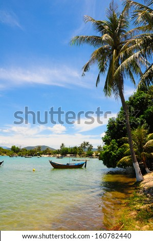 Beautiful summer sea landscape in Vietnam