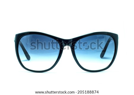 Beautiful sunglasses isolated on white background
