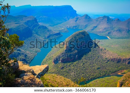 Beautiful sunny day at Blyde river Canyon, Mpumalanga, South Africa - stock photo