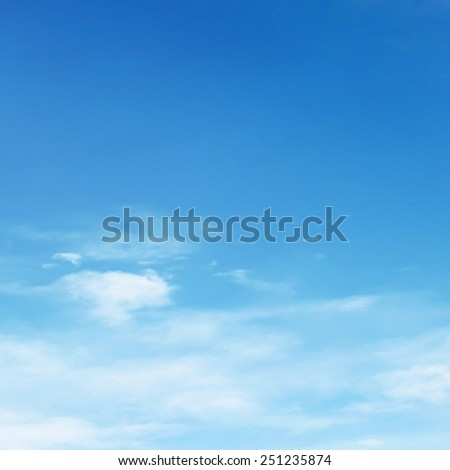 Beautiful sunny day sky - stock photo