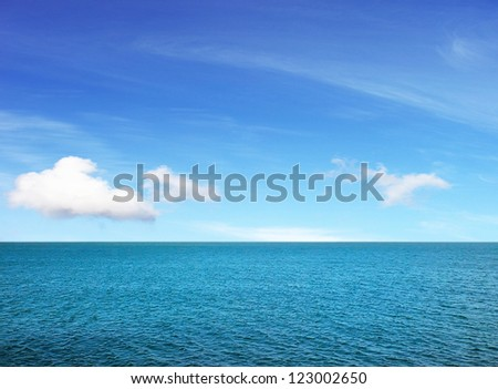 Beautiful sunny sea view - stock photo