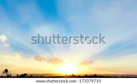 Beautiful Sunrise  - stock photo