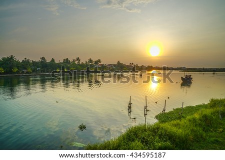 Beautiful sunrise at Hoi An Vietnam