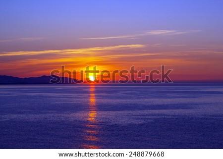Beautiful sunrise in Andalusia, Spain  - stock photo