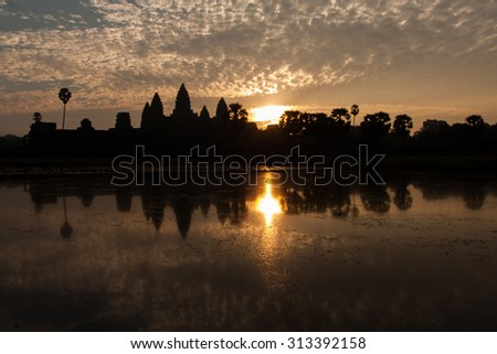 Beautiful Sunrise in Angkor Wat