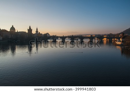 Beautiful Sunrise in Prague