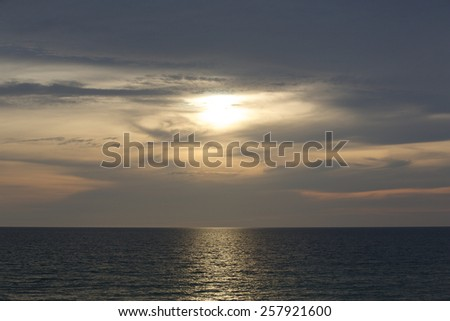 Beautiful sunset. - stock photo
