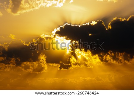 beautiful sunset - stock photo