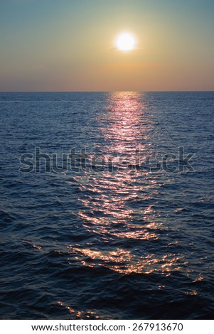 Beautiful sunset, Andaman Sea, Thailand, Phuket - stock photo