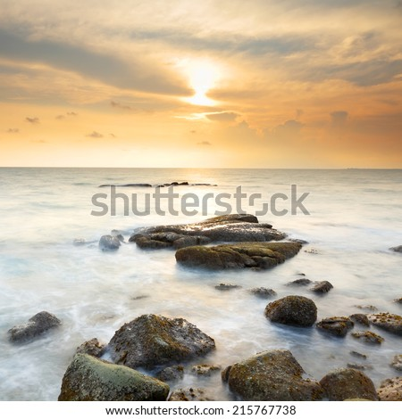 Beautiful sunset coast