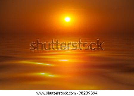 Beautiful sunset on the sea