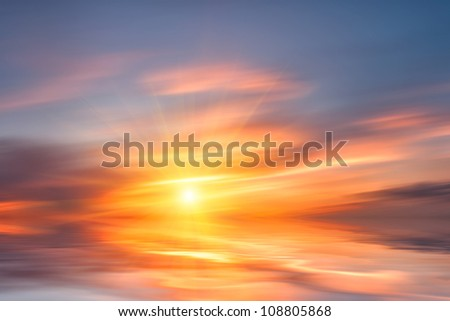sunrise with clouds over water sunrise over water stock images royalty free images vectors