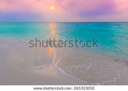 beautiful sunset sea tropical nature background holiday  luxury  resort island atoll about coral reef amazing  fresh  freedom snorkel adventure. Coconuts