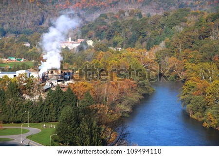 Beautiful Sutton city in West Virginia - stock photo