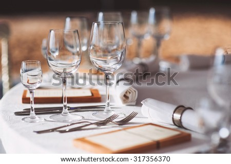 Beautiful table set