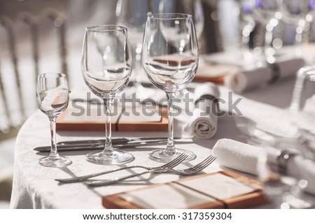 Beautiful table setting - stock photo