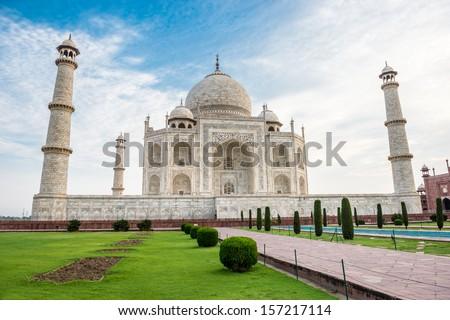 Beautiful Taj Mahal - stock photo