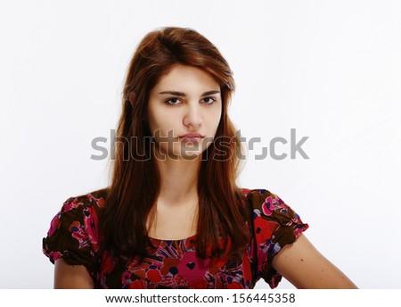beautiful teen girl   - stock photo