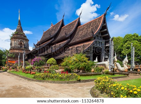 Beautiful temple in Chiang Mai. Thailand. - stock photo