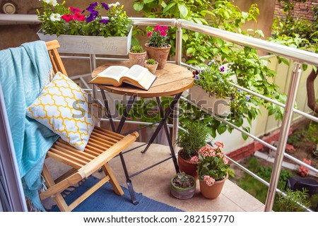 balcony flowers stock images royalty free images. Black Bedroom Furniture Sets. Home Design Ideas