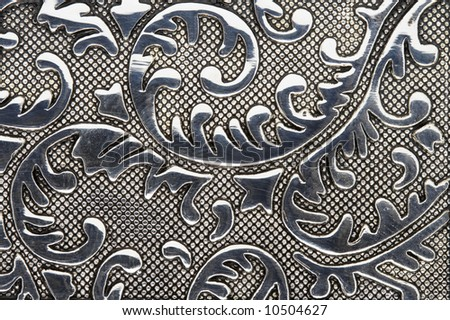 Beautiful textured iron shining pattern - stock photo