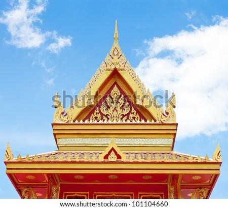 Beautiful Thai architecture - stock photo