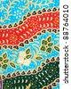Beautiful Thai fabric pattern - stock photo