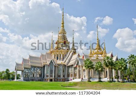 Beautiful Thai style church at Nakhonratchasima province, Thailand. - stock photo