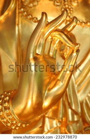 Beautiful Thai temple style and buddhist art decoration in Thailand. - stock photo