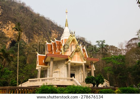 Beautiful Thai Temple , temple in Loei - stock photo