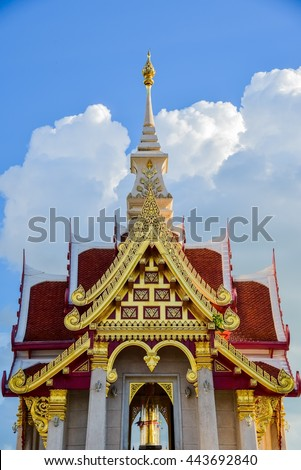 Beautiful Thai temple,Thailand buddhism temple  - stock photo