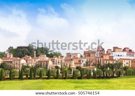 Beautiful the historic city of Toscana Valley at daylight with an amazing landscape.