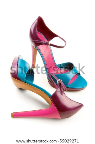 Beautiful three-colored shoes