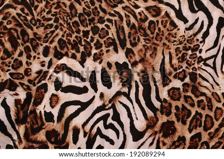beautiful tiger fur - colorful texture with orange, beige, yellow and black  - stock photo