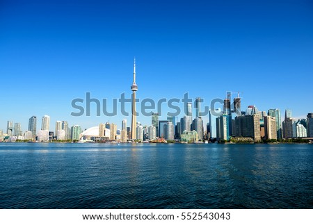 Beautiful Toronto skyline. Ontario, Toronto, Canada