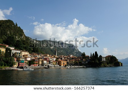 Beautiful town at lake Como
