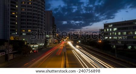 beautiful traffic - stock photo