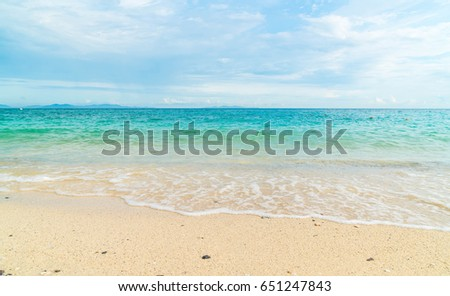 Beautiful tropical beach and sea landscape background