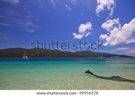Beautiful tropical beach and sky