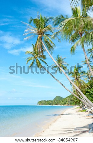 Beautiful tropical beach at Seychelles - vacation background - stock photo