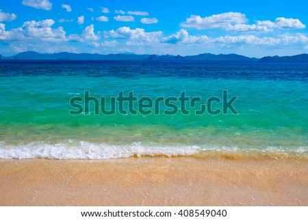 Beautiful tropical beach, El Nido, Palawan, Philippines, Southeast Asia - stock photo